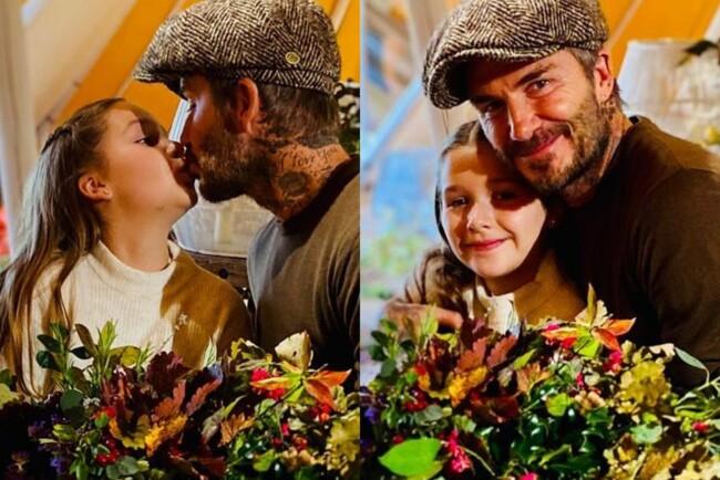 Девід Бекхем розгнівав мережу поцілунком в губи з 9-річною донькою Харпер