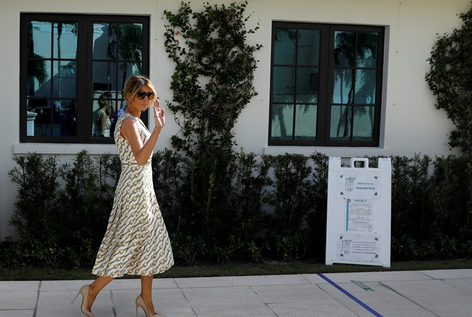 Меланія Трамп проголосувала на виборах в США в аутфіті за 20 тисяч доларів: фото